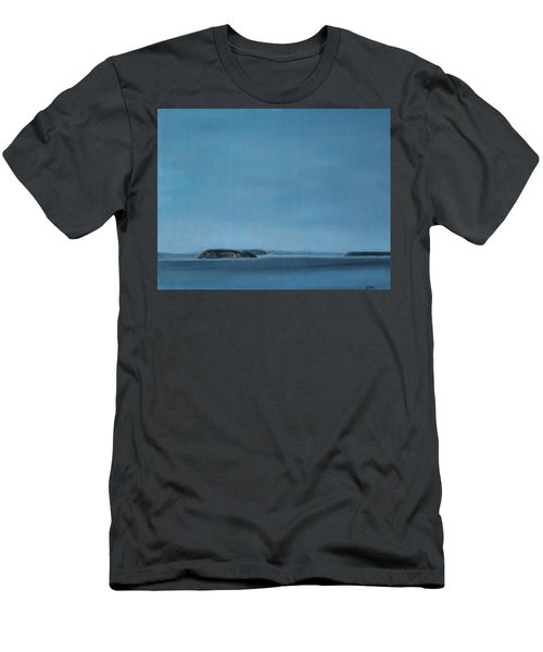 Hat Island View From Harborview Park Men's T-Shirt (Athletic Fit)