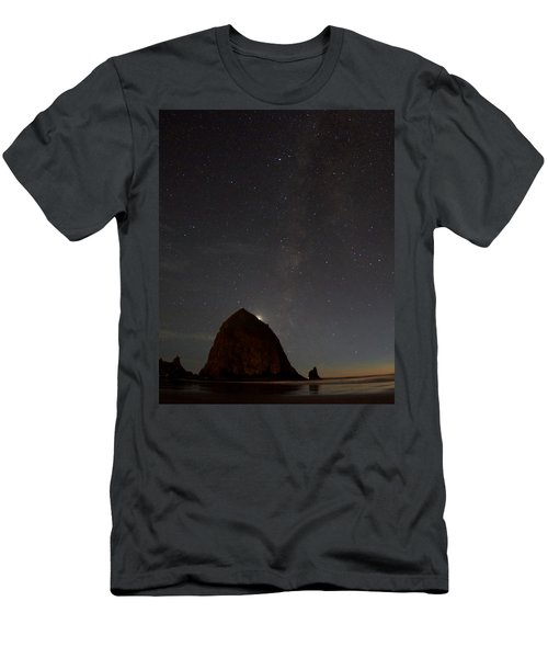 Haystack Night Under The Stars Men's T-Shirt (Athletic Fit)