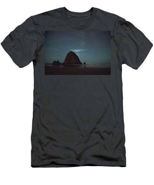 Haystack Under The Stars Men's T-Shirt (Athletic Fit)
