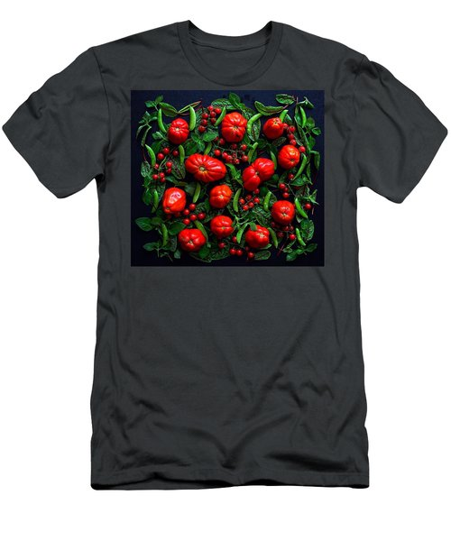 Heirloom Tomatoes And Peas Men's T-Shirt (Athletic Fit)