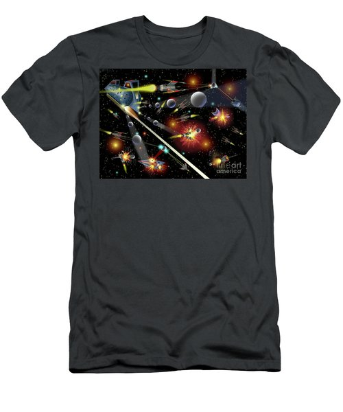 Hell In Space Men's T-Shirt (Athletic Fit)
