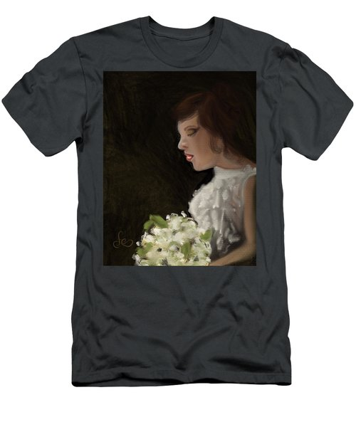 Men's T-Shirt (Athletic Fit) featuring the painting Her Big Day by Fe Jones