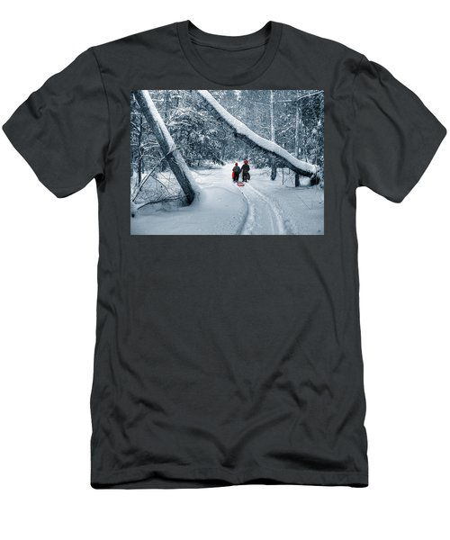 Men's T-Shirt (Athletic Fit) featuring the photograph Hiking Into The Gully by Wayne King