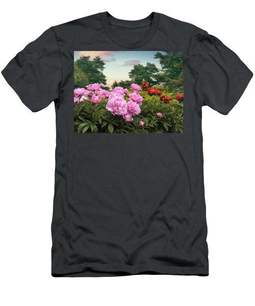 Hillside Peonies Men's T-Shirt (Athletic Fit)