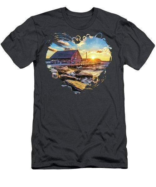 Historic Anderson Dock In Ephraim Door County Men's T-Shirt (Athletic Fit)