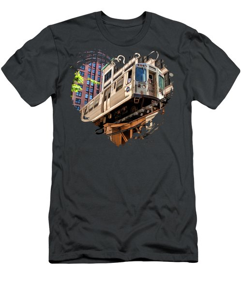 Historic Chicago El Train Men's T-Shirt (Athletic Fit)