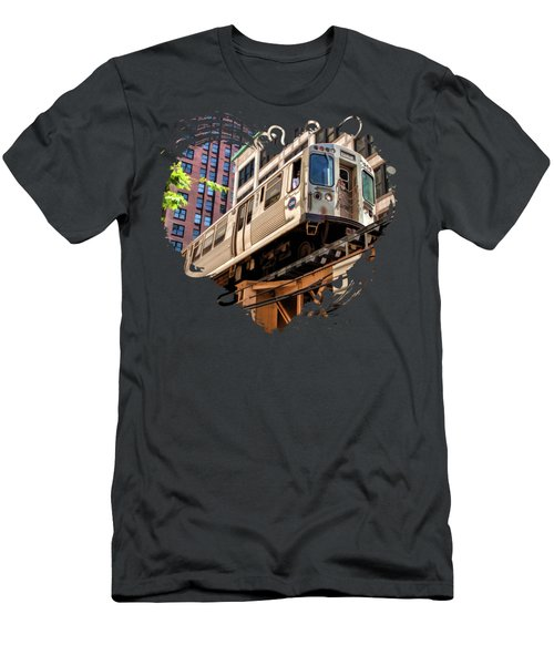 Historic Chicago El Train Men's T-Shirt (Athletic Fit)