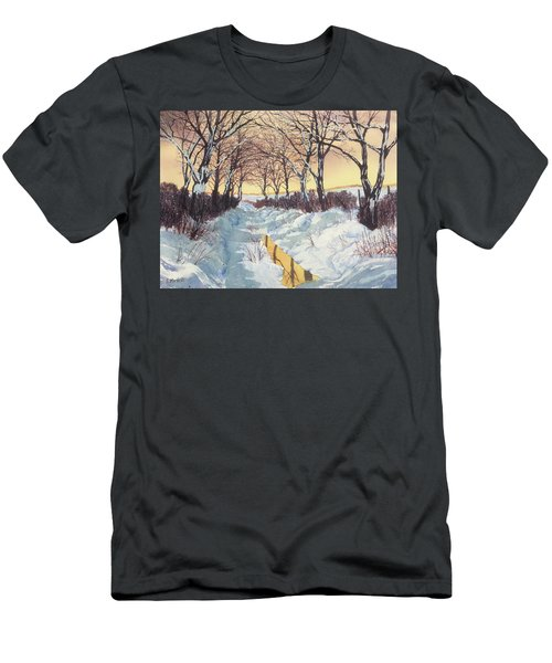 Tunnel In Winter Men's T-Shirt (Athletic Fit)
