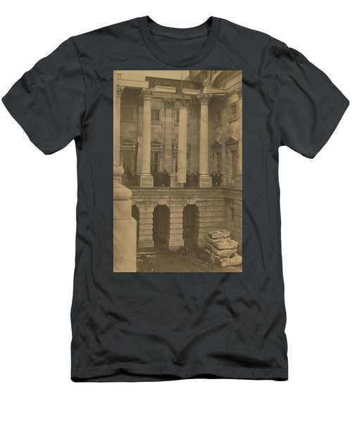 Hoisting Final Marble Column At United States Capitol Men's T-Shirt (Athletic Fit)