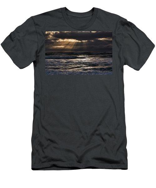 Men's T-Shirt (Athletic Fit) featuring the photograph Hokitika Beach New Zealand Iv by Steven Ralser