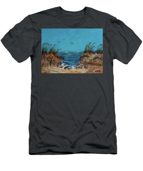 Horse Neck Men's T-Shirt (Athletic Fit)