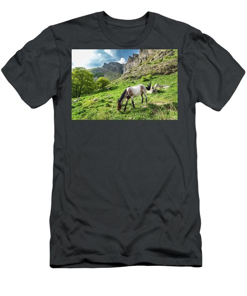 Horse On Balkan Mountain Men's T-Shirt (Athletic Fit)