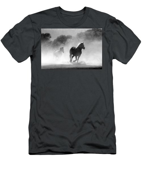Horses On The Run Men's T-Shirt (Athletic Fit)