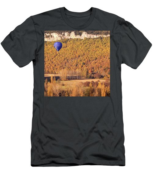 Hot Air Balloon, Beynac, France Men's T-Shirt (Athletic Fit)