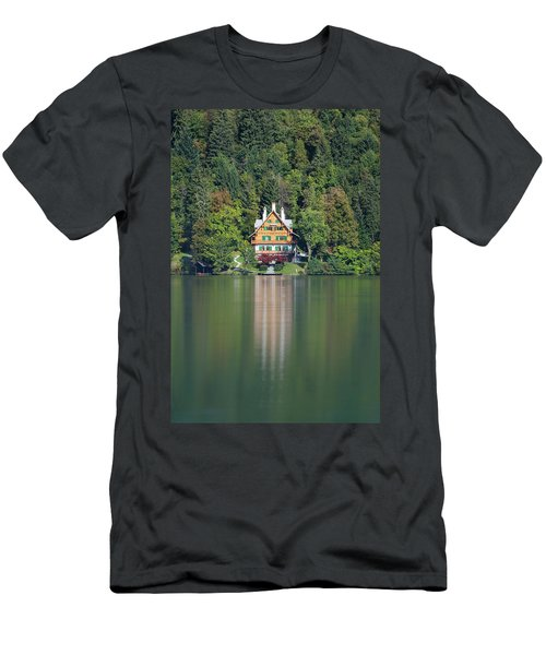 Men's T-Shirt (Athletic Fit) featuring the photograph House On The Lake by Davor Zerjav