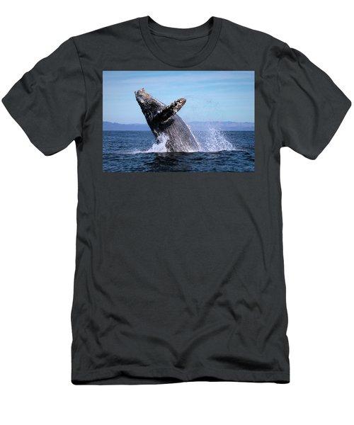 Humpback Breaching - 01 Men's T-Shirt (Athletic Fit)