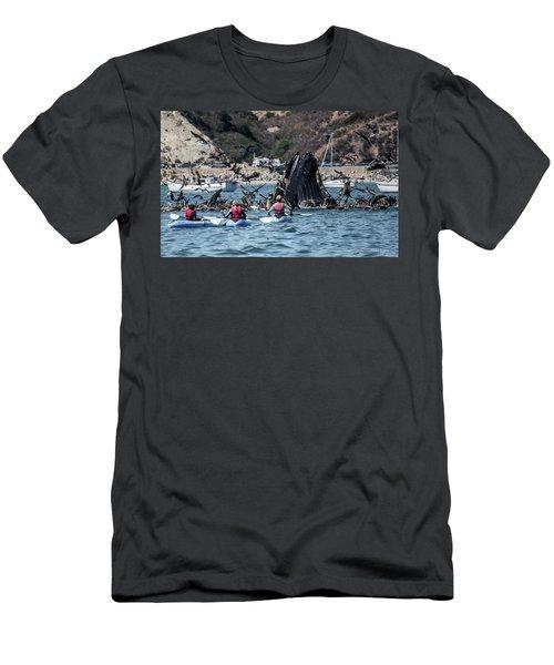 Humpbacks In Avila Harbor Men's T-Shirt (Athletic Fit)