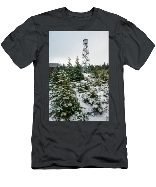 Hunter Mountain Fire Tower Men's T-Shirt (Athletic Fit)