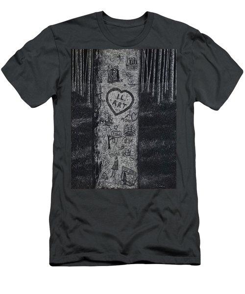 Graffiti Tribute  Men's T-Shirt (Athletic Fit)