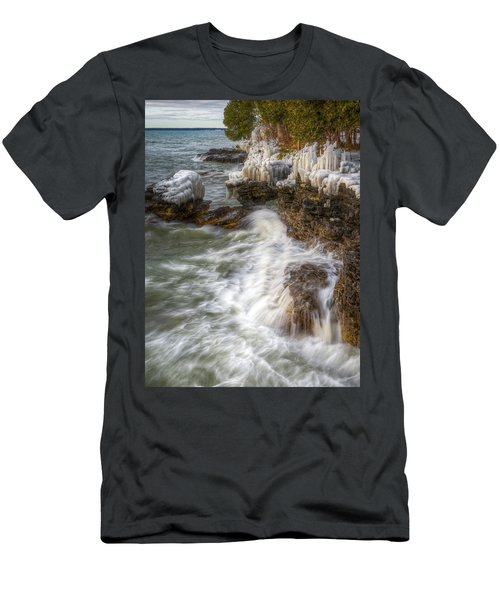 Ice And Waves Men's T-Shirt (Athletic Fit)