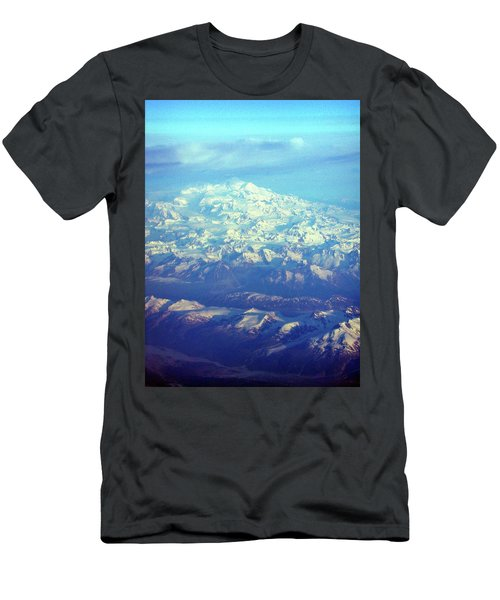 Ice Covered Mountain Top Men's T-Shirt (Athletic Fit)