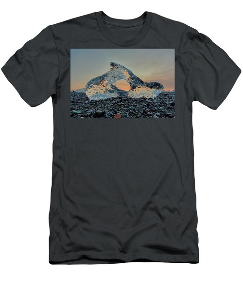 Iceland Diamond Beach Abstract  Ice Men's T-Shirt (Athletic Fit)