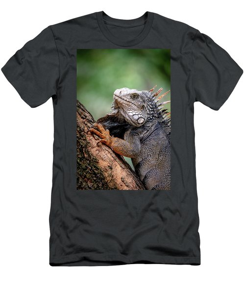 Men's T-Shirt (Athletic Fit) featuring the photograph Iguana's Portrait by Francisco Gomez