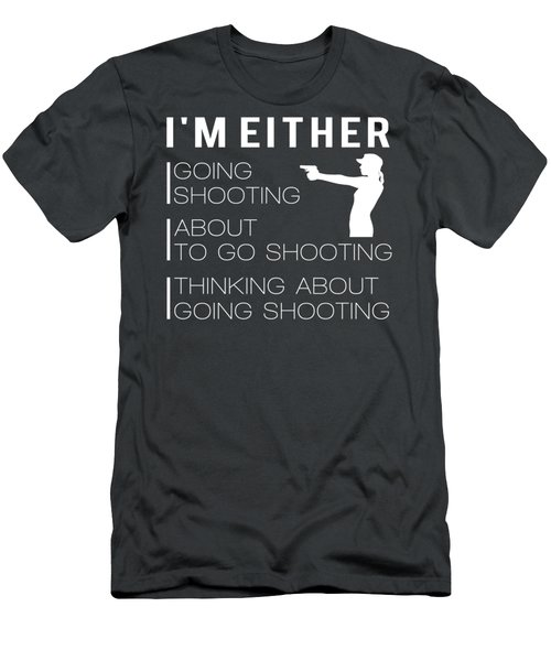 I'm Either Gun About To Gun Thinking About Gun Tee Men's T-Shirt (Athletic Fit)