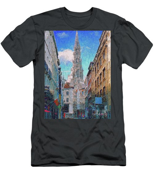 In-spired  Street Scene Brussels Men's T-Shirt (Athletic Fit)