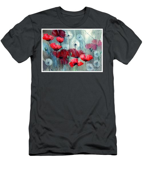 In The Night Garden - Rising Poppies Men's T-Shirt (Athletic Fit)