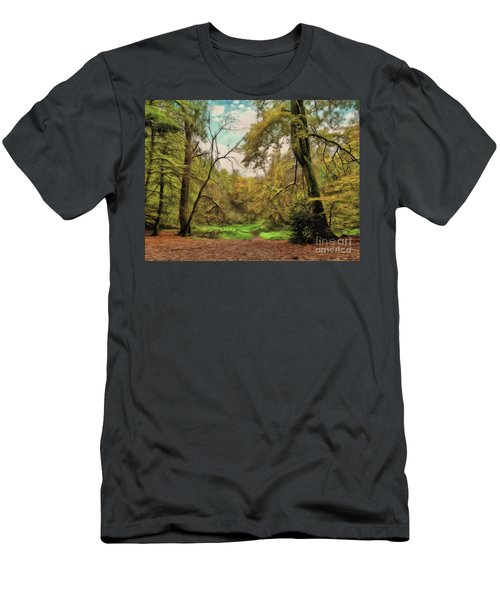 Men's T-Shirt (Athletic Fit) featuring the photograph In The Woods by Leigh Kemp