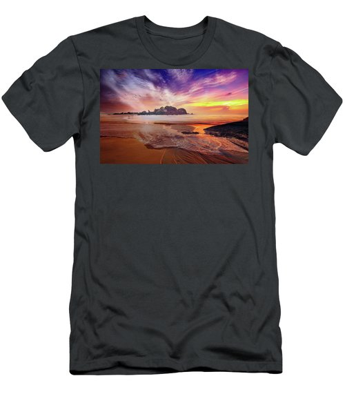 Incoming Tide At Sunset Men's T-Shirt (Athletic Fit)