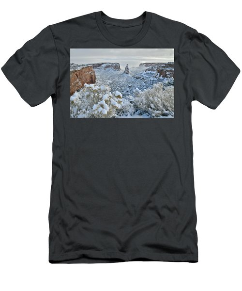 Independence Monument In Snow Men's T-Shirt (Athletic Fit)