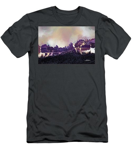 Men's T-Shirt (Athletic Fit) featuring the digital art Inside Yellowstone by Mike Braun
