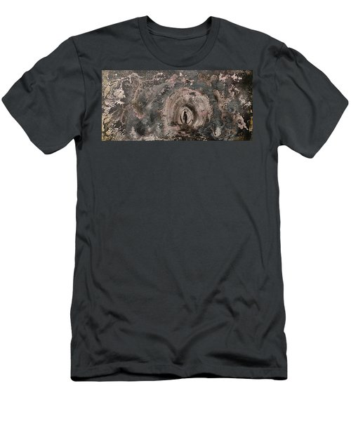 Men's T-Shirt (Athletic Fit) featuring the painting Into The Fog by 'REA' Gallery