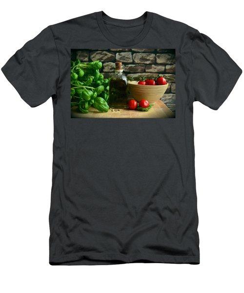 Italian Ingredients Men's T-Shirt (Athletic Fit)