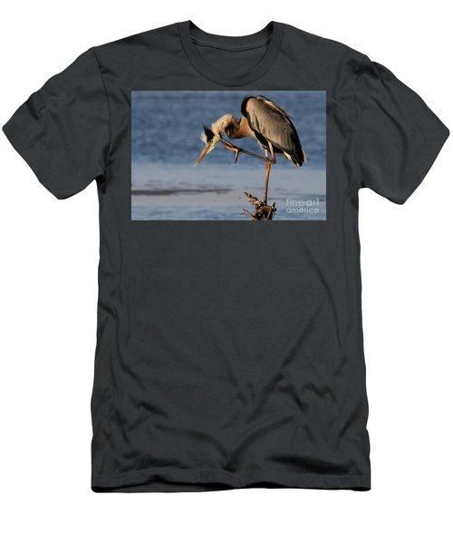 Itchy - Great Blue Heron Men's T-Shirt (Athletic Fit)