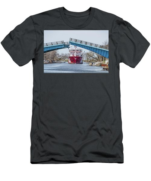 Iver Bright Tanker Visits Manistee Men's T-Shirt (Athletic Fit)