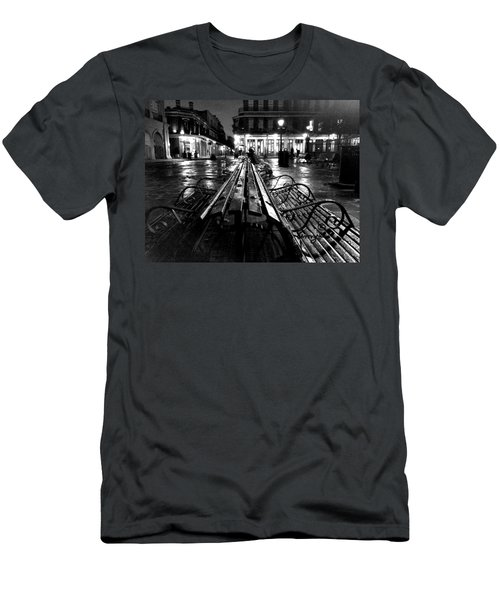 Jackson Square In The Rain Men's T-Shirt (Athletic Fit)