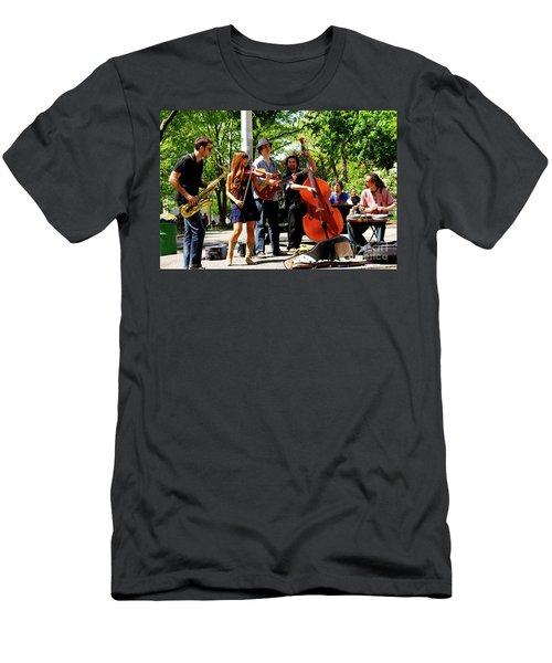Jazz Musicians Men's T-Shirt (Athletic Fit)