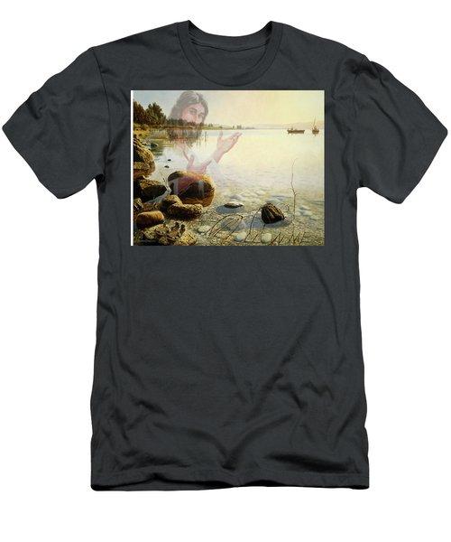 Jesus, Come Follow Me Men's T-Shirt (Athletic Fit)