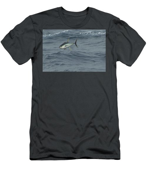 Jumping Yellowfin Tuna Men's T-Shirt (Athletic Fit)