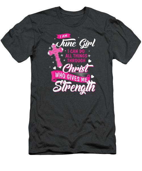 June Girl Tshirt I Can Do All Things Gemini Cancer Birthday T-shirt Men's T-Shirt (Athletic Fit)