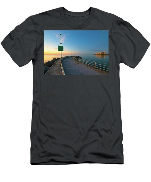 Jupiter Inlet Jetty Looking South Men's T-Shirt (Athletic Fit)