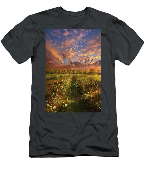 Men's T-Shirt (Athletic Fit) featuring the photograph Just Follow Your Feet by Phil Koch