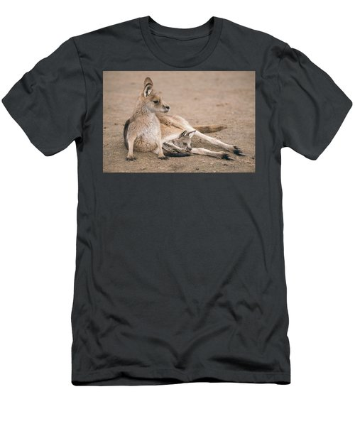 Men's T-Shirt (Athletic Fit) featuring the photograph Kangaroo Outside by Rob D Imagery
