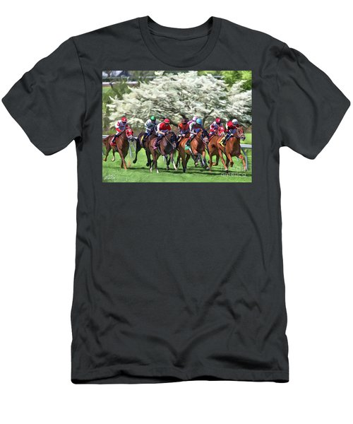 Keeneland Down The Stretch Men's T-Shirt (Athletic Fit)