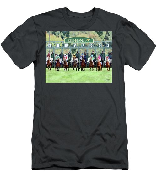 Keeneland Starting Gate Men's T-Shirt (Athletic Fit)