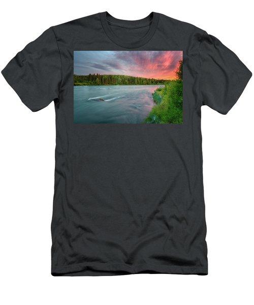 Kenai River Alaska Sunset Men's T-Shirt (Athletic Fit)