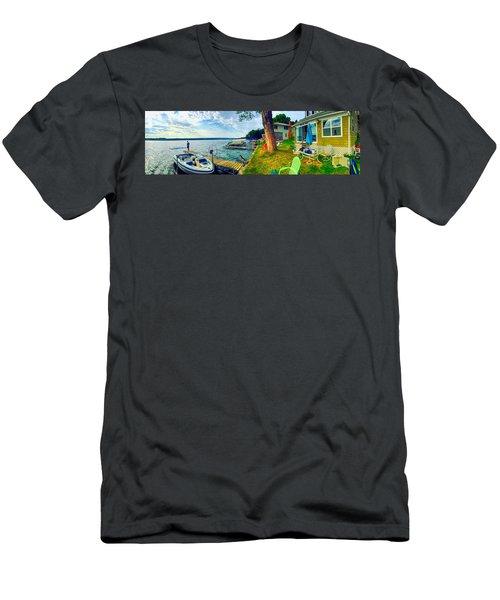 Keuka Lake Mornings Panorama Men's T-Shirt (Athletic Fit)